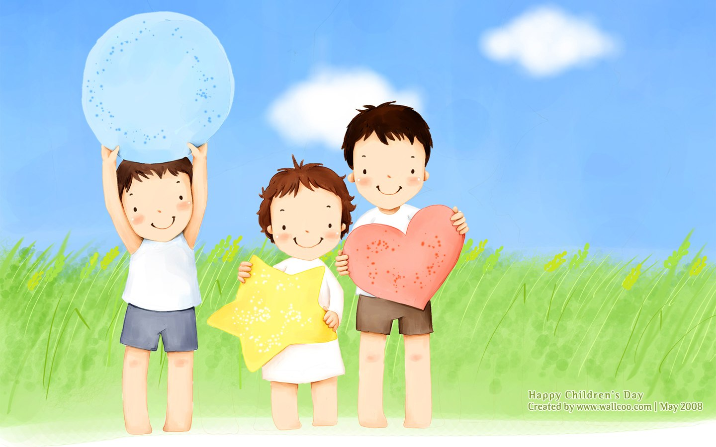 Lovely illustration art for children's Day 1440x900第24张桌面