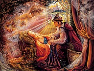 华丽幻想艺术 :  Josephine Wall 天国的精灵插画集 16 - Sleeping Beauty :  Josephine Wall  Fantasy Art Illustration